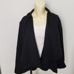 LANE BRYANT Black Waterfall Jacket Women's Size 18